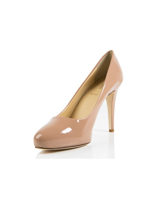 K.Spin Patent Leather Pump - Sand