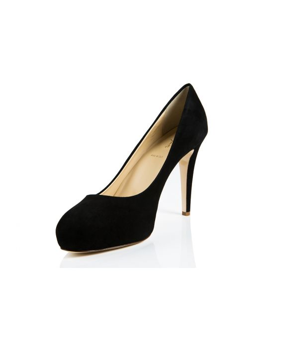 K.Spin Suede Leather Pump - Black