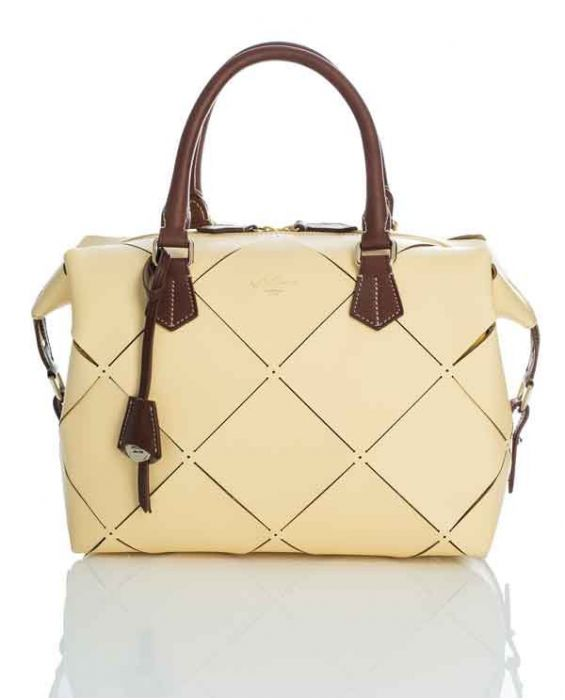 BOLDRINI SELLERIA 'MONTEBONO' SATCHEL - STRAW/BROWN