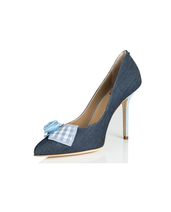 Goffredo Fantini washed Jeans Pump - Blue