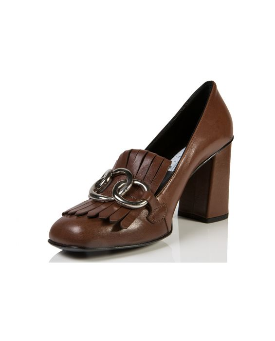 Bruglia 'Angel' Leather Pump - Brown
