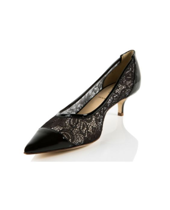 K.Spin - Black Lace & Patent Pump