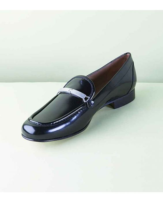 Mimao Silver Bar Loafers - Black