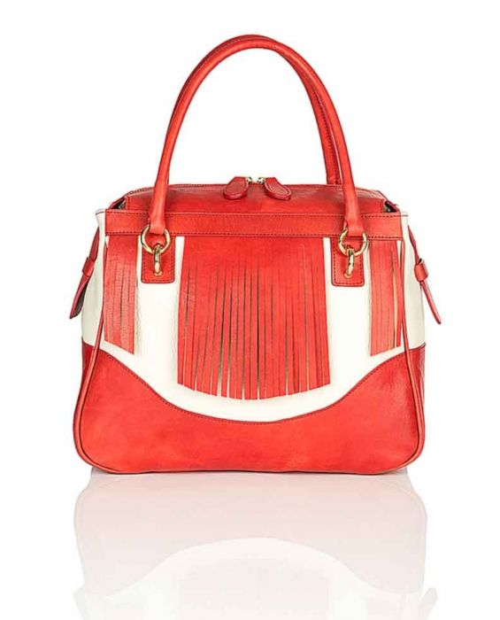 Minnozzi '3521' Tote - Red/White