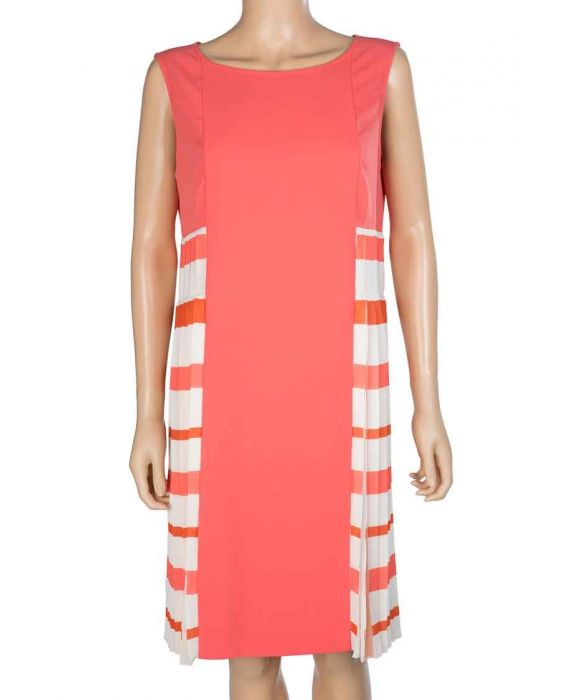 CARACTERE - PLEAT DRESS - ORANGE