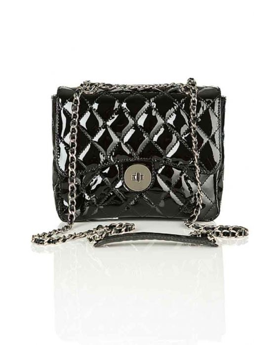 MINNOZZI '2210' BLACK SHOULDER BAG