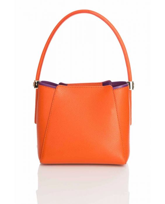 Gironacci '224' Tote- Orange/Purple