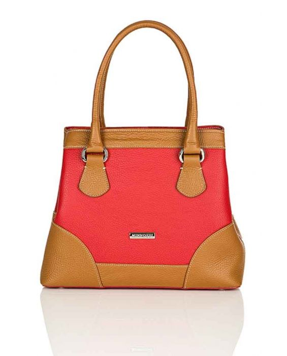 Minnozzi '3513' Red/Brown Tote