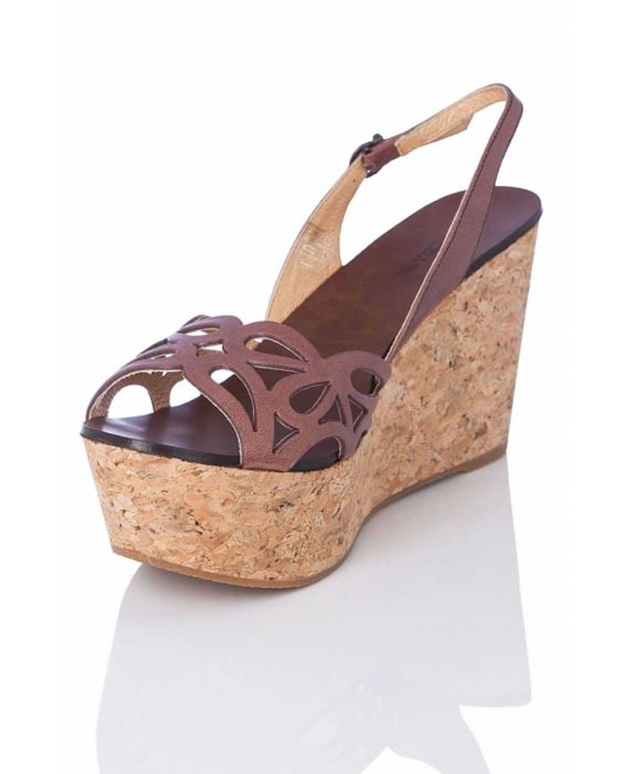 Marcela Yil 'Fun' Platform Wedge - Brown