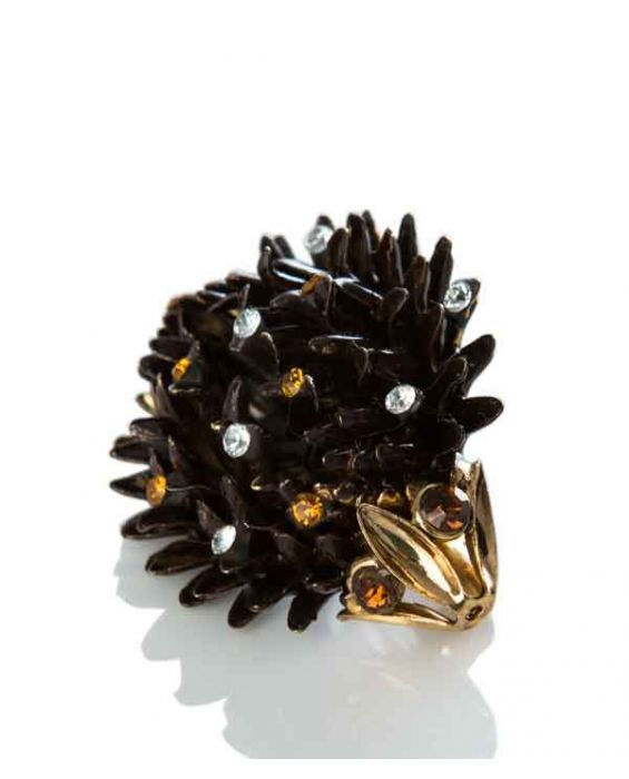 ORNELLA BIJOUX 'HEDGEHOG' BROOCH