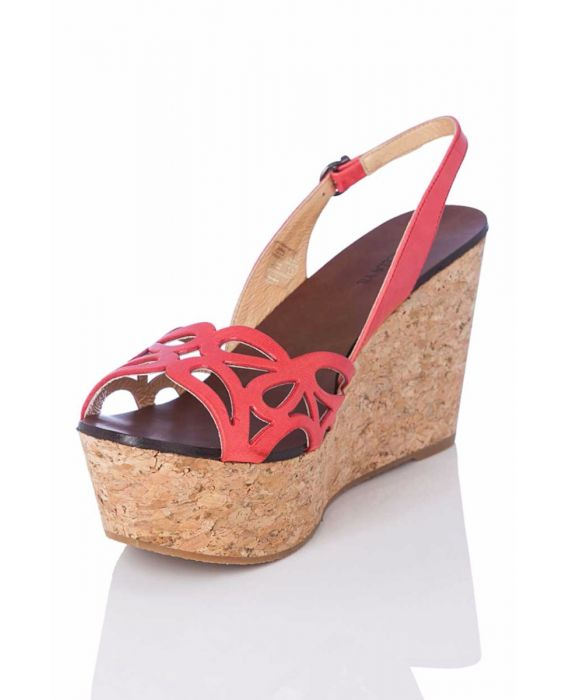 Marcela Yil 'Fun' Platform Wedge - Coral