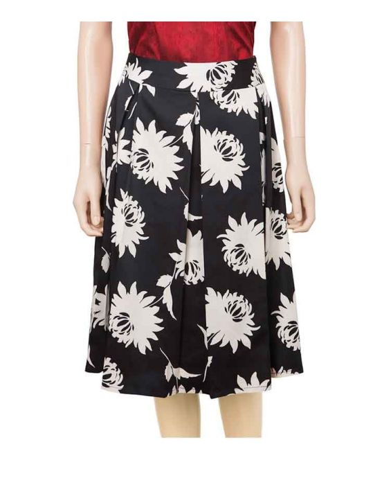 DE-SOLA - FLORAL PLEAT SKIRT