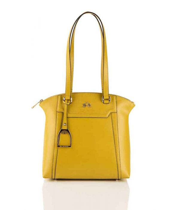 "La Martina ""La Portena"" Shopper Leather Bag - Yellow"