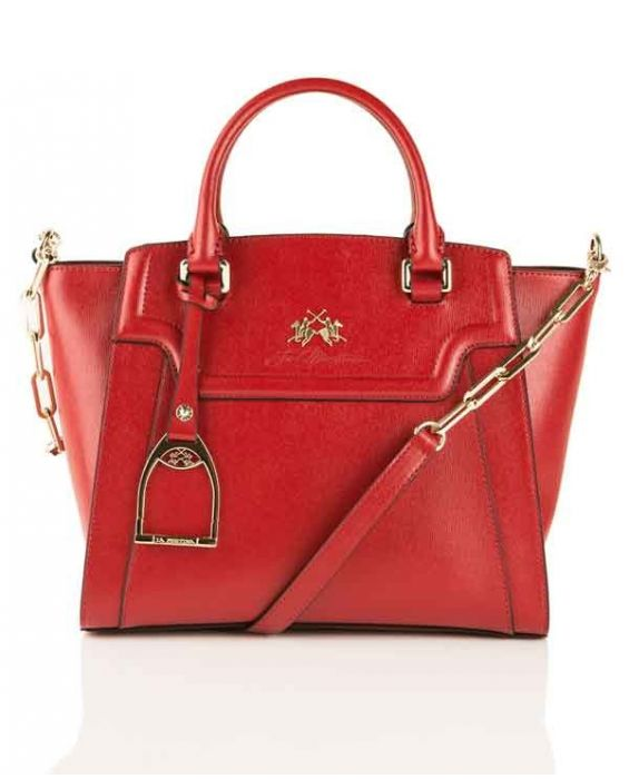 "La Martina ""La Portena"" Mini Tote - Dark Red"