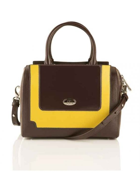 "LA MARTINA ""DIRLINGTON"" LEATHER TOTE - BROWN"