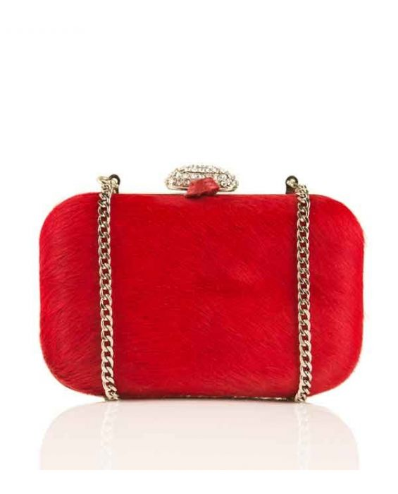 FONTANELLI PONY CLUTCH - RED