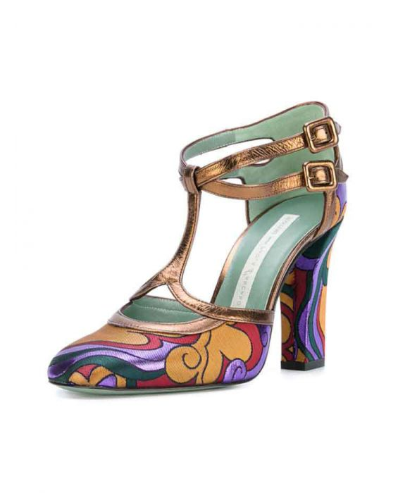 Paola D'Arcano 'Oldies' T-Bar Ankle Strap Pumps - Multi