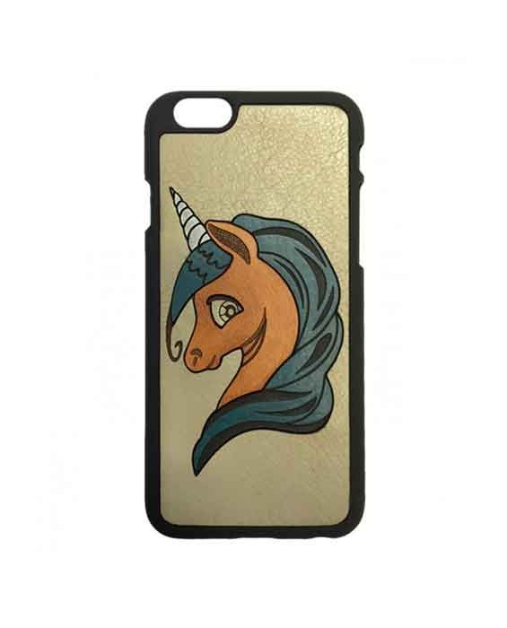 Eevye 'Unicorn' Leather Phone Case - Grey