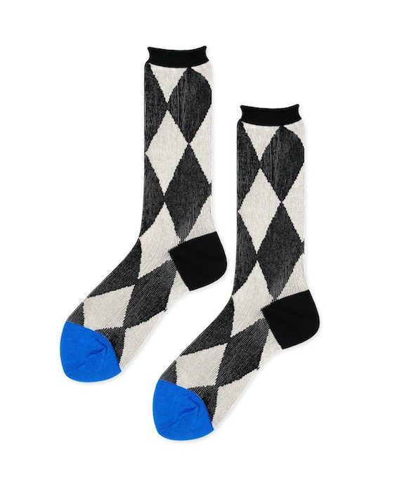 Hansel from Basel 'Pierrot' Crew Socks - Black