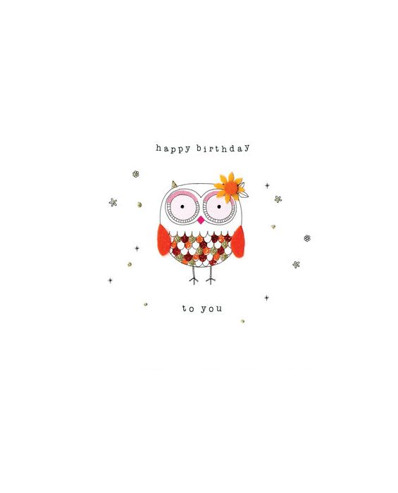 Second Nature 'Owl' Birthday Card
