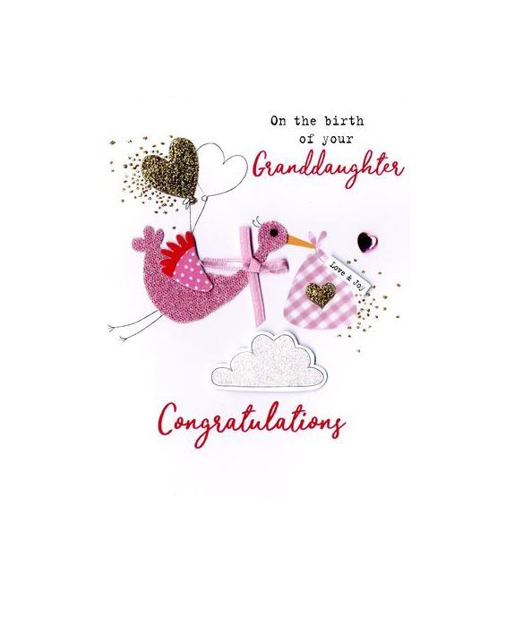 Second Nature 'Granddaughter' Birth Card