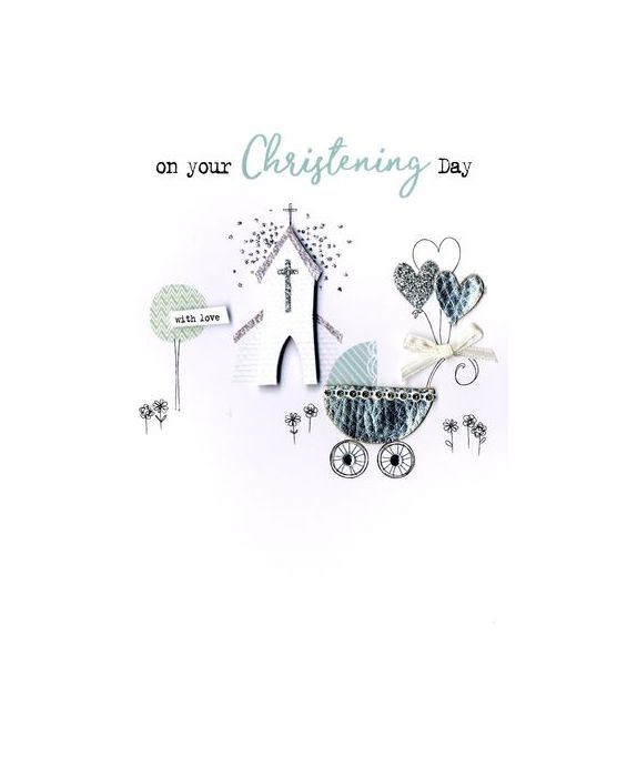 Second Nature Christening Card