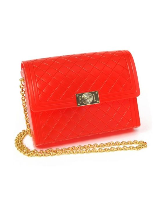 VIALACTEA - ANNIA TRANSLUCENT BAG - RED