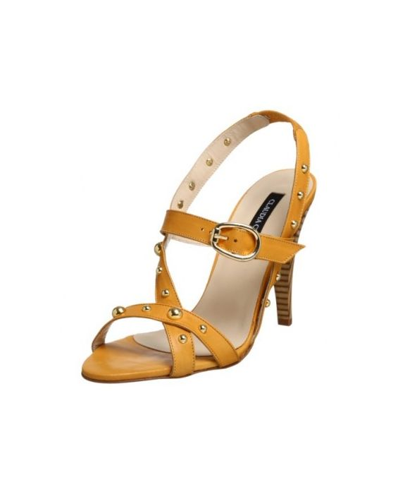 Claudia Ciuti Women's Strappy Sexy Sandal-Yellow
