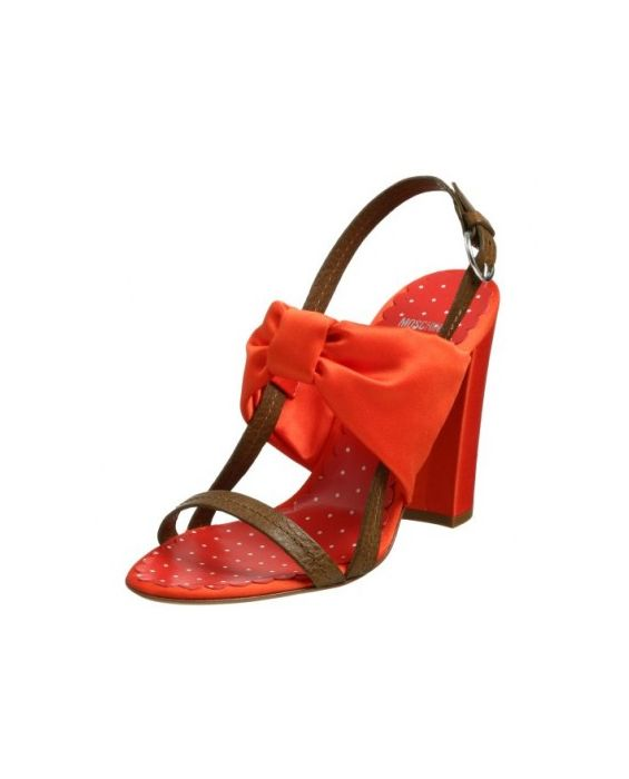 Moschino Cheap&Chic 'Butterfly' Sandal-Orange/Brown