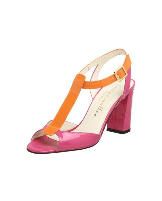 Bettye Muller Women's Visage T-Strap Sandal-Pink & Orange