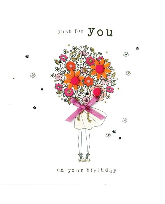 Second Nature 'Just For You' Birthday Card