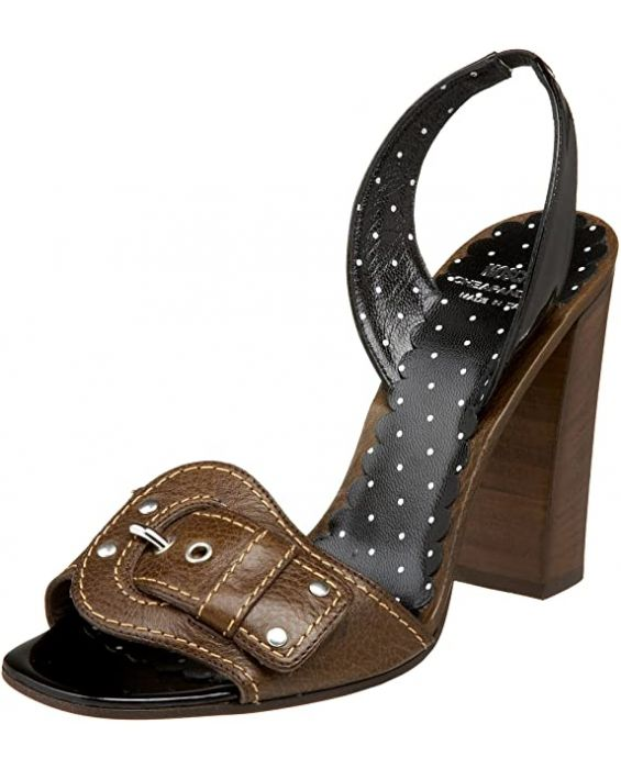 Moschino Cheap and Chic 'Trick' Sandal - Brown/Black