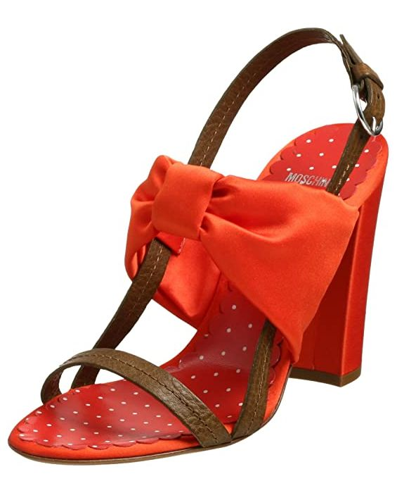 Moschino Cheap and Chic 'Butterfly' Sandal - Orange/Brown