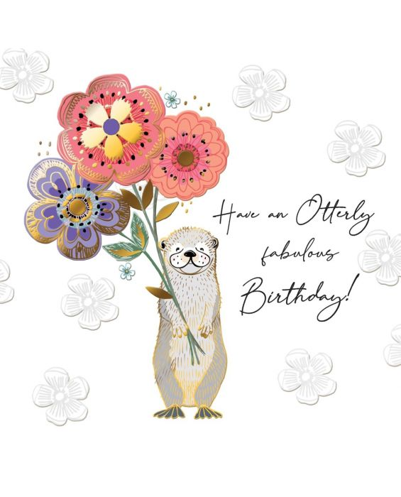 Second Nature 'Otterly' Birthday Card
