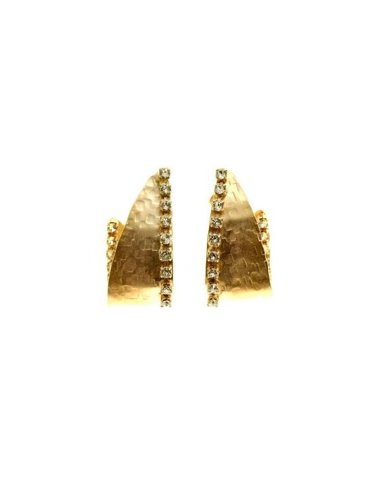 CATHERINE BIJOUX HAMMERED EARRINGS