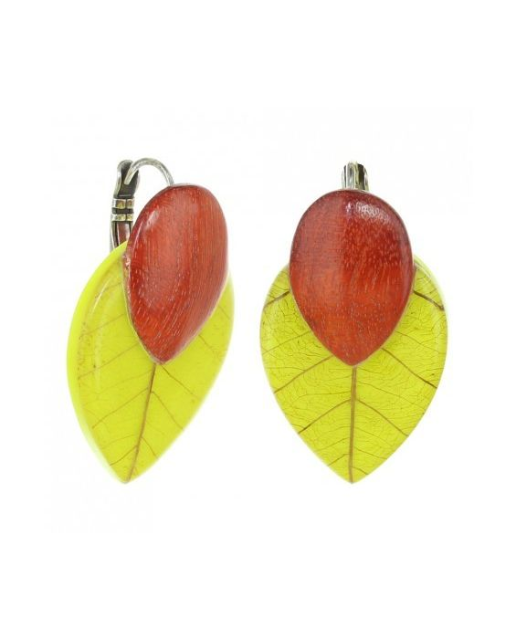 NATURE BIJOUX 'ANDY' EARRINGS - GREEN