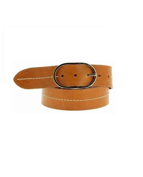 Herbert Frere Soeur 'La Midi' Leather Belt - Camel