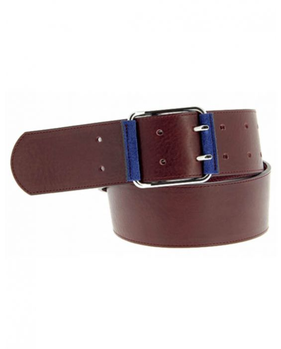 Herbert Frere Soeur 'La Baron' Leather Belt - Bordeaux
