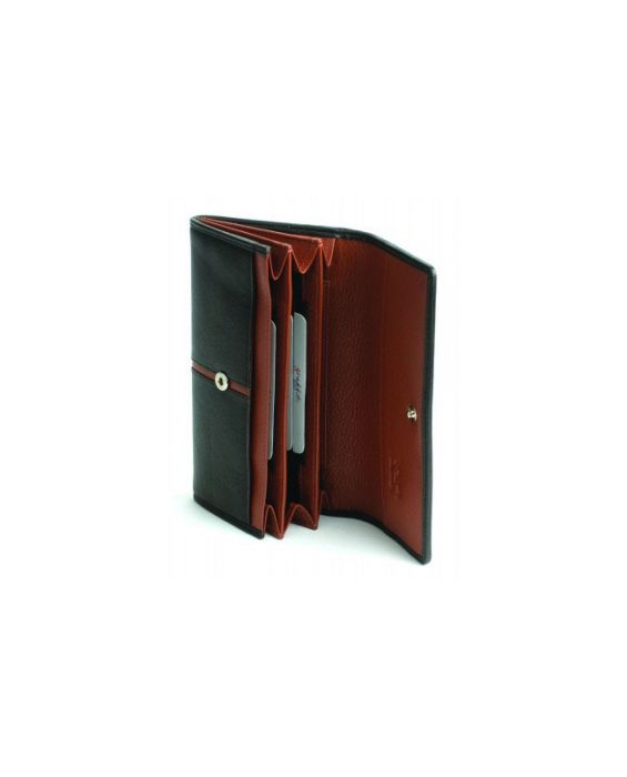 GOLUNSKI LEATHER WALLET - BLACK /TAN