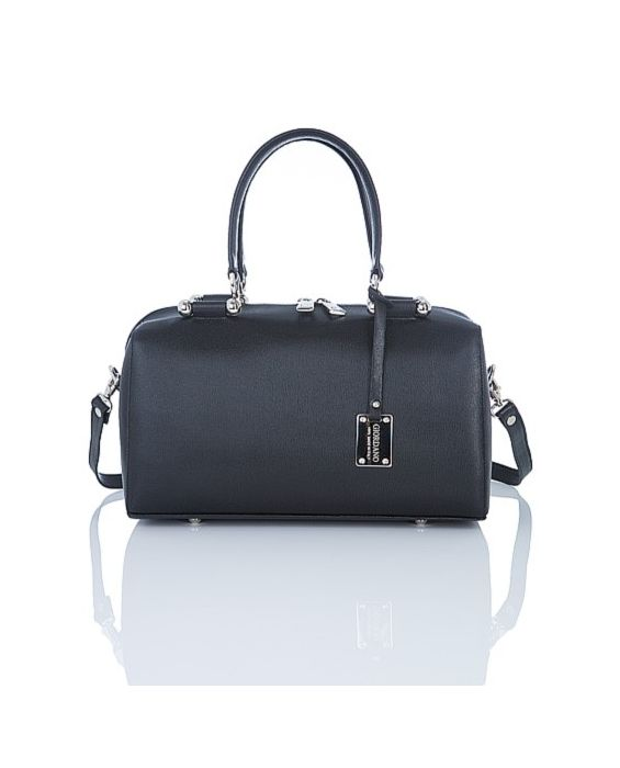 Giordano - Saffiano Leather Satchel - Black