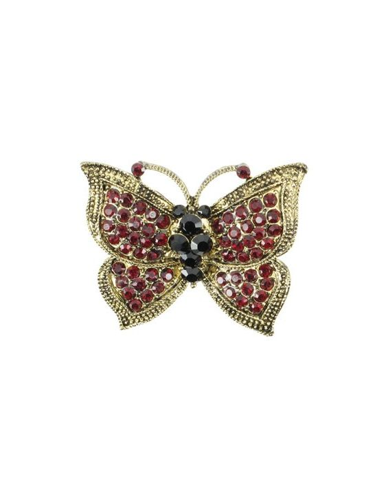 ARTICLES DE PARIS 'BUTTERFLY' BROOCH - RED