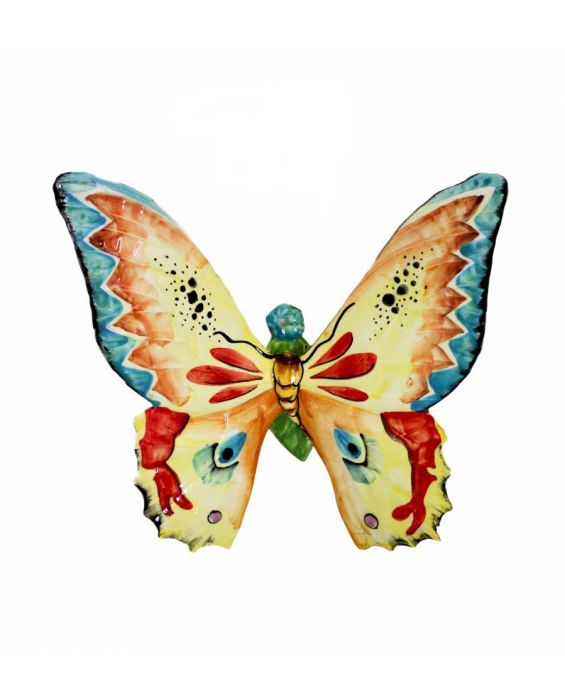 Mastercraft Large Ceramic Butterfly Wall Plaque - Multi