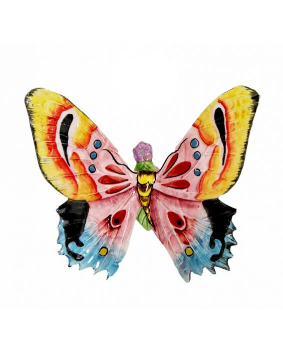 Mastercraft Medium Ceramic Butterfly Wall Plaque - Multi