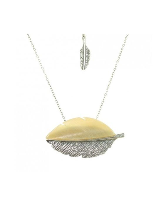 Nature Bijoux 'Feather' Necklace