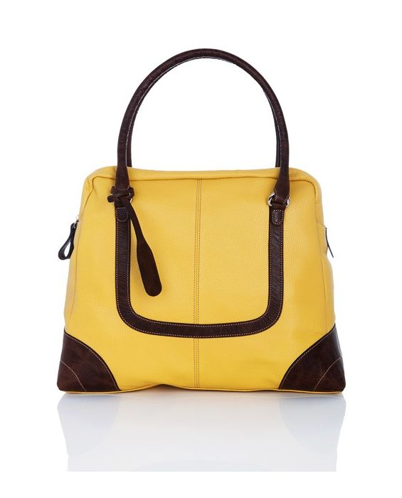 Frattassimo - Old School Leather Hobo Yellow