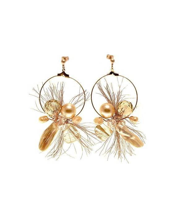 CATHERINE BIJOUX 'HOOP' EARRINGS - GOLD