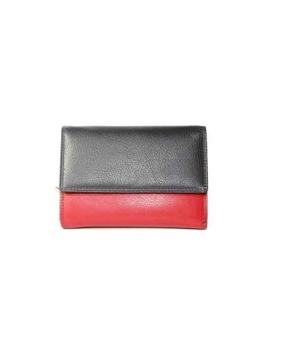 GOLUNSKI - RED/CREAM/NAVY BLUE WALLET
