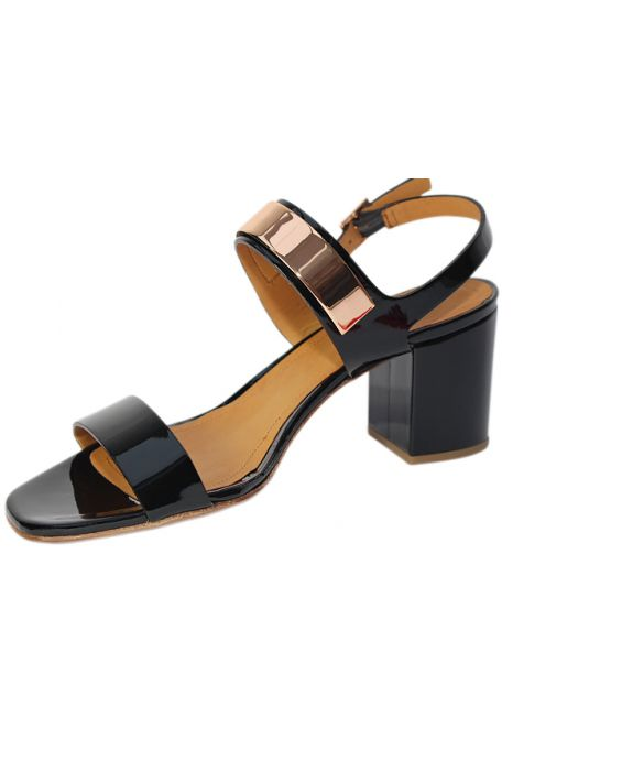 Cantini & Cantini Patent Leather Sandal - Black