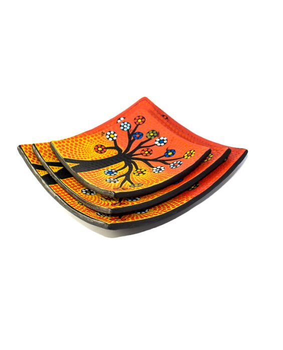 Aladdin Tree with Flower 'Aboriginal Style' 3 Set Centre Piece