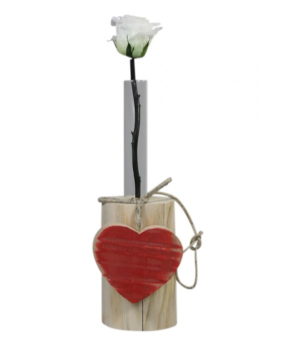 Centro del Mutamento Red Heart Wooden Flower Vase - Wood